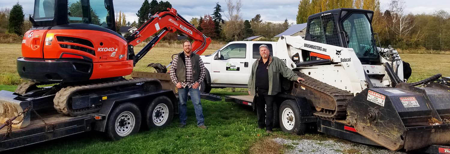 Our professionals use the latest excavating equipment to help clean up your property banner