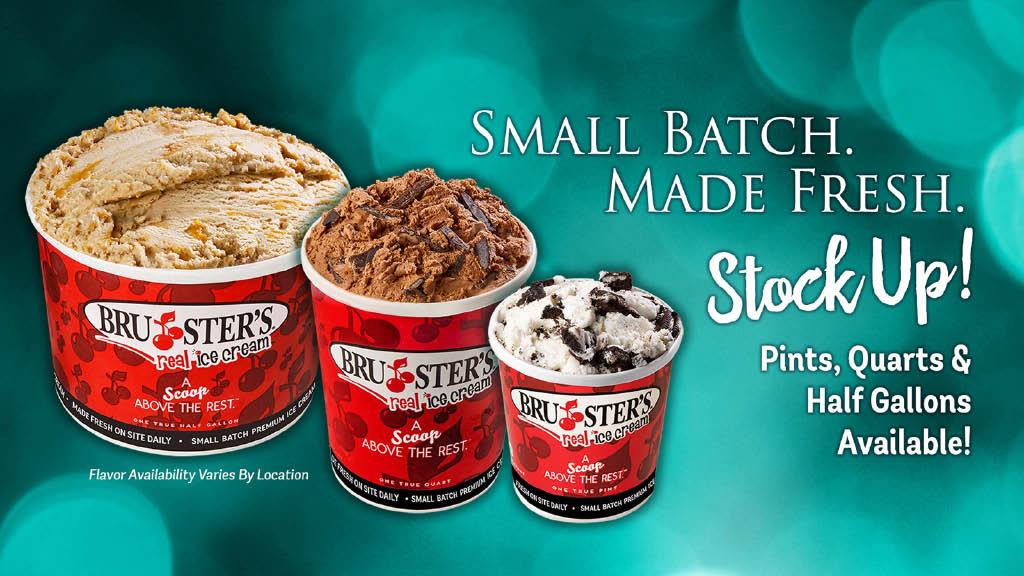Bruster's Ice Cream in Gaithersburg MD, waffle and ice cream cones, ice cream sundae