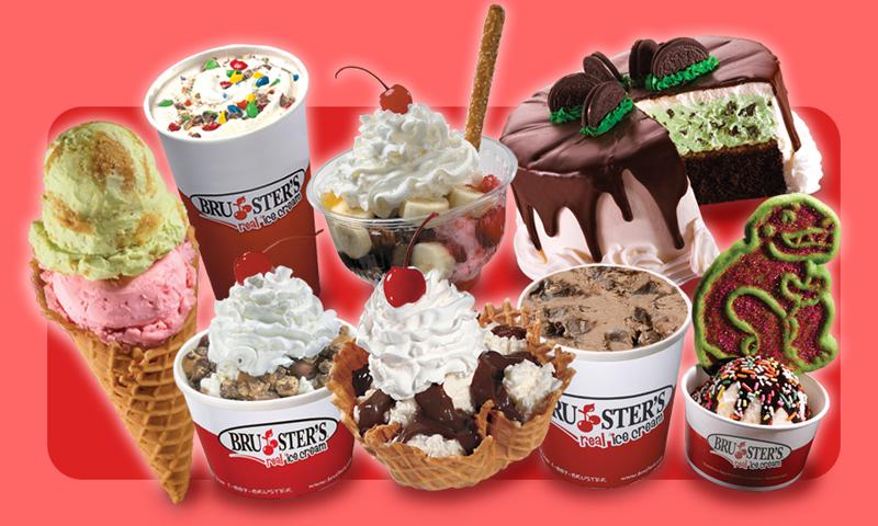 brusters ice cream sundaes