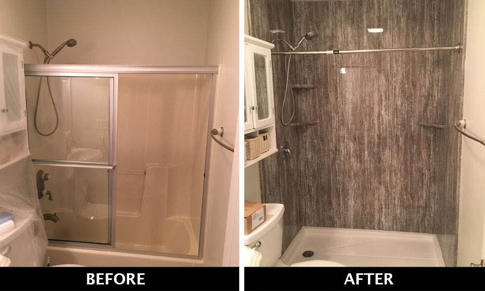Brytons' before and after photos of old and new bathroom remodeling North Charleston, SC