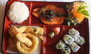 Get a bento box and other Japanese food near Libertyville, IL