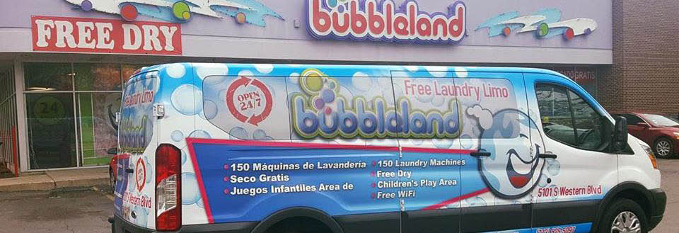 Bubbleland on Western in Chicago, IL banner