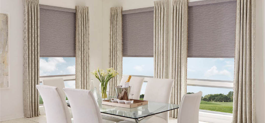 Budget Blinds Fabric drapes for Windows