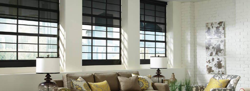 Blinds in many colors, textures and designs