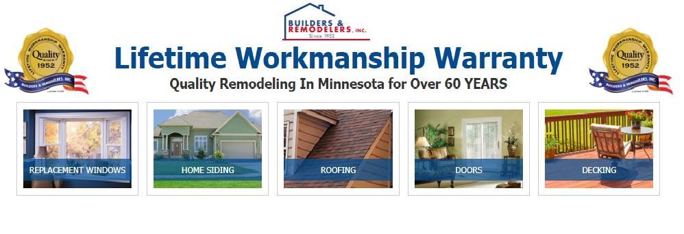 Builders & Remodelers, Inc. in Minneapolis, MN banner