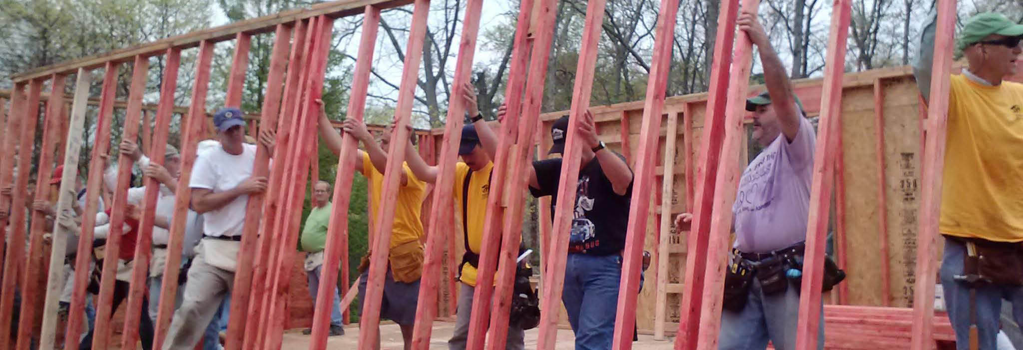 Habitat for Humanity of Southern Ocean County building blitz.
