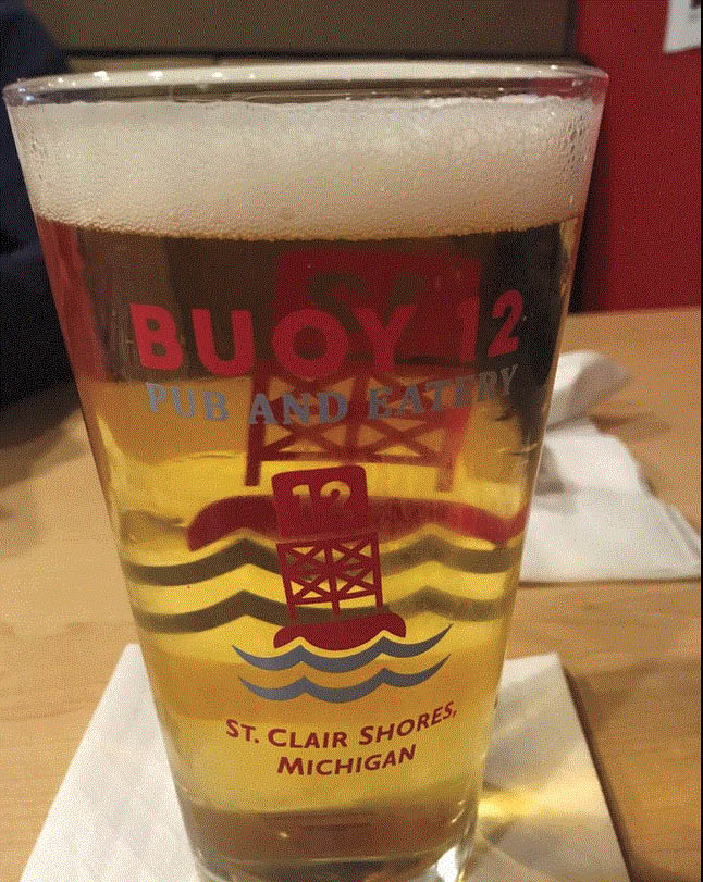 Picture of a tall beer at Buoy 12 Pub & Eatery in St. Clair Shores, MI