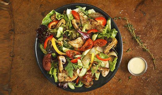 huge fresh salads at Burger IM in Torrance, CA
