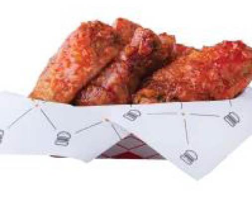 chicken wings; fries; drinks