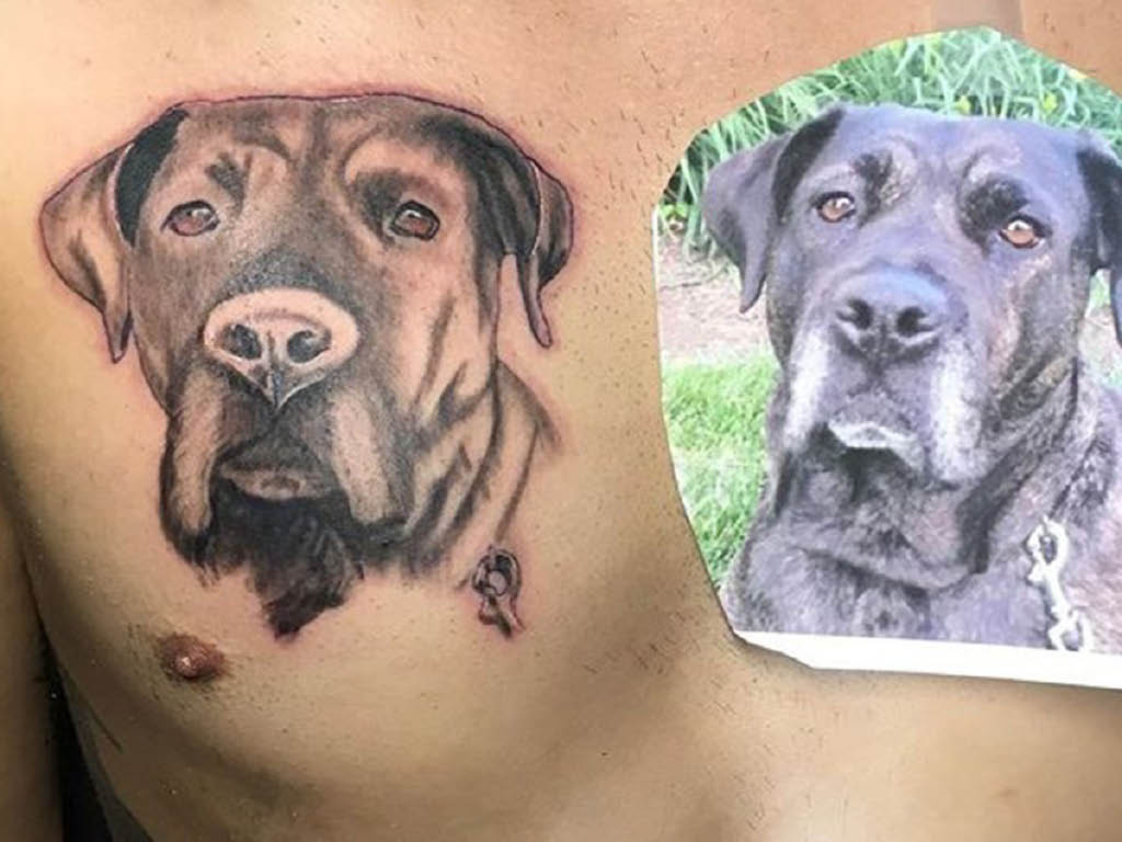Burned Hearts Tattoo & Art Company dog tattoo