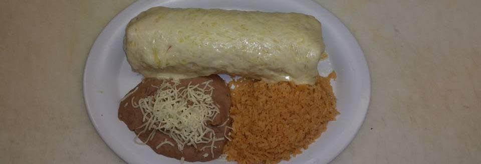 Burrito SUiza at baby Burrito located in Chicago, Il.