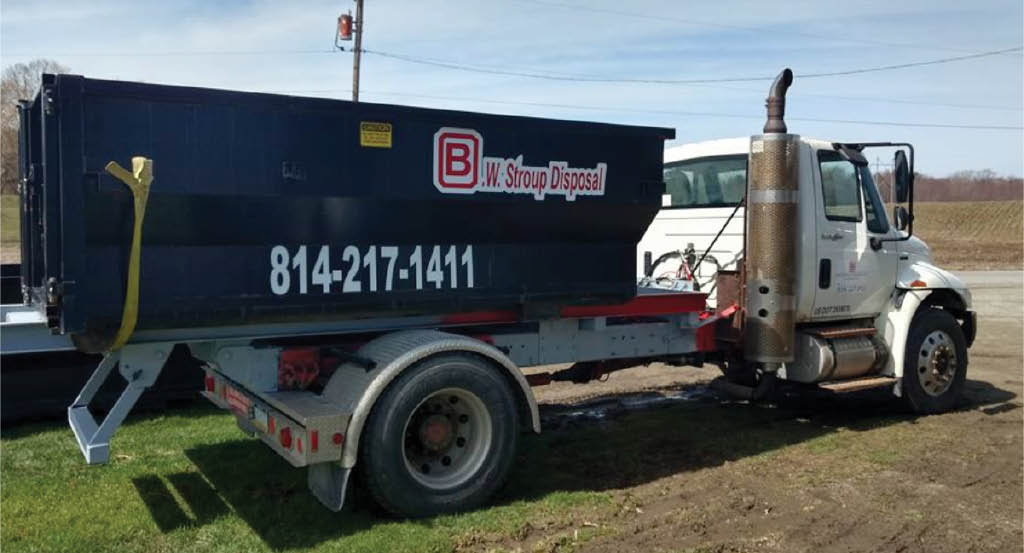 B.W. Stroup Disposal - Erie County service truck