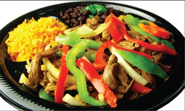 Perfectly seasoned steak fajitas and peppers