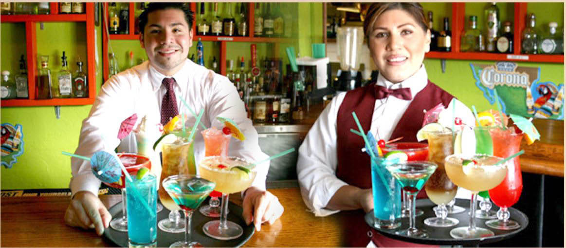 Cabrera's Mexican Cuisine food servers will bring you your cocktails
