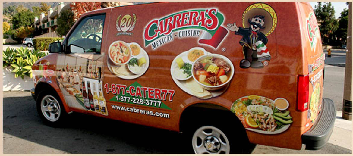 Cabrera's Mexican Cuisine van for catering