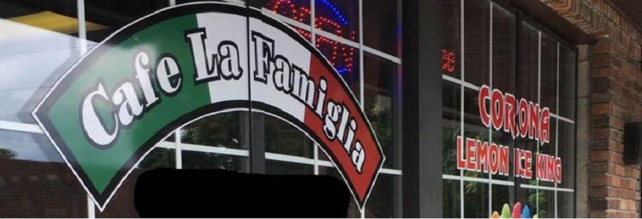 Exterior of Cafe La Famiglia 7 in New Windsor banner