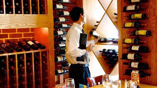 dining,lunch,dinner,newark de,caffe gelato,wine cellar,wine rack,