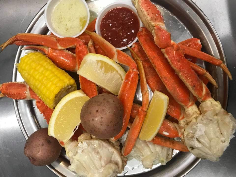 Crab legs, seafood restaurant