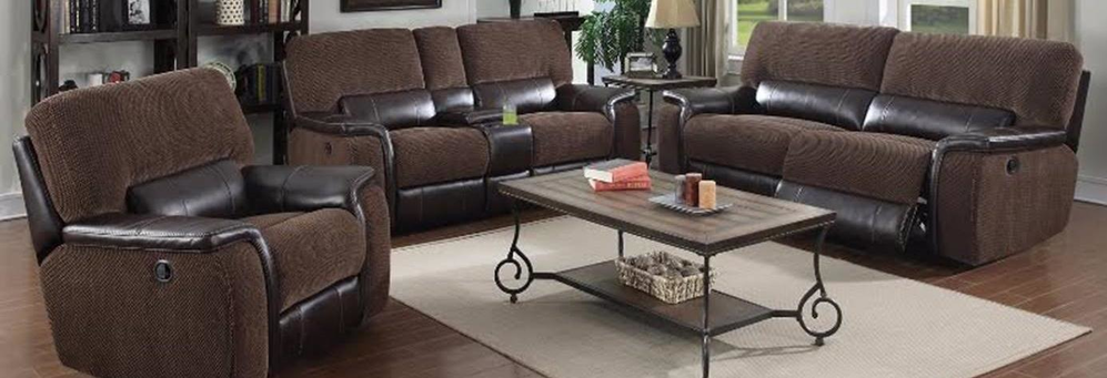 Beautiful brown living room group with coffee table and end table