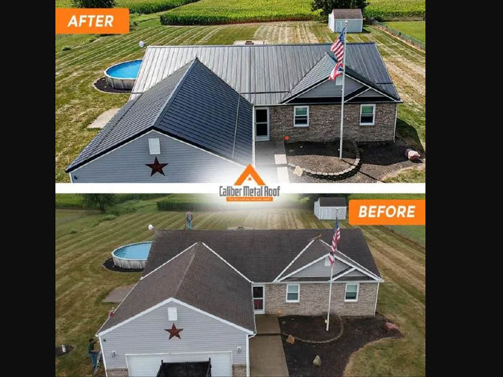 Caliber Metal Roof before and after