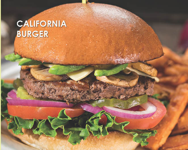 juicy california burger is available
