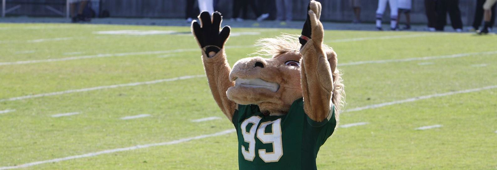 Cal Poly Athletics in San Luis Obispo, CA banner Mustangs mascot