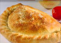 Italian calzone baked with Italian three cheeses and pizza sauce