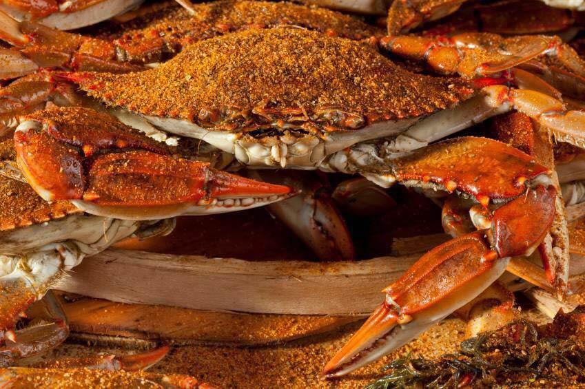 Cameron's Seafood bushel of crabs