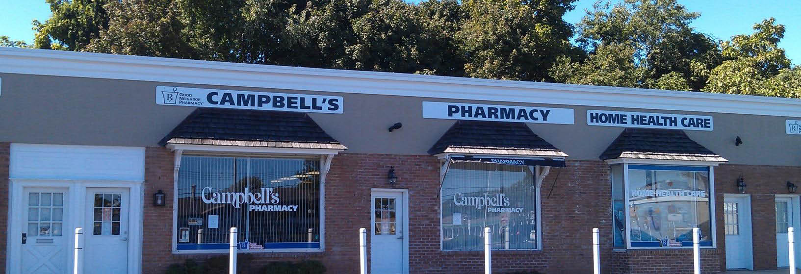 Campbells Pharmacy Store Front.