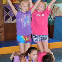 Gymnastics at Camp Hillcroft - just for the fun of it