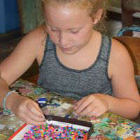 Camp Hillcroft offers art activities for kids to encourage creativity