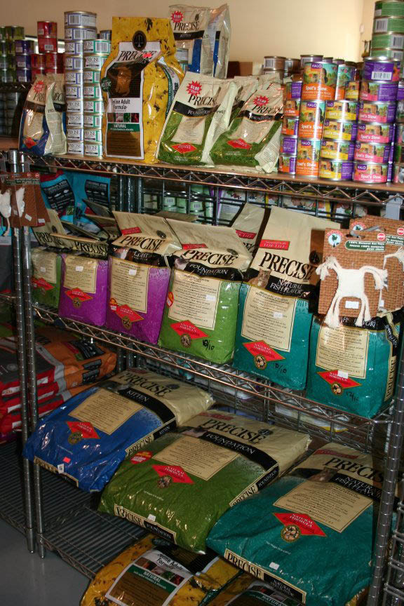 Dog food and treats available to buy