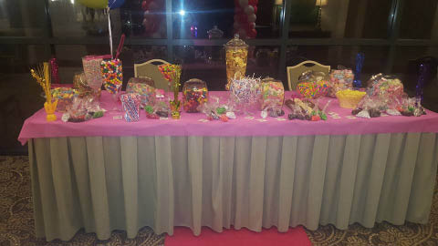 table of candy by candy station for special event, newnan ga