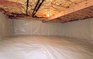 After Installing Crawl Space Vapor Barrier System In The Midlands