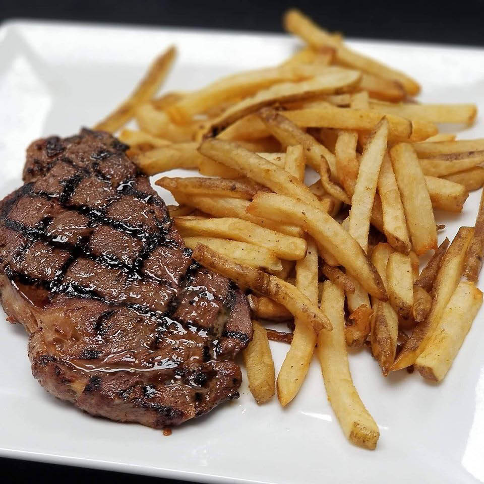 Steak & fries at Canton Icehouse