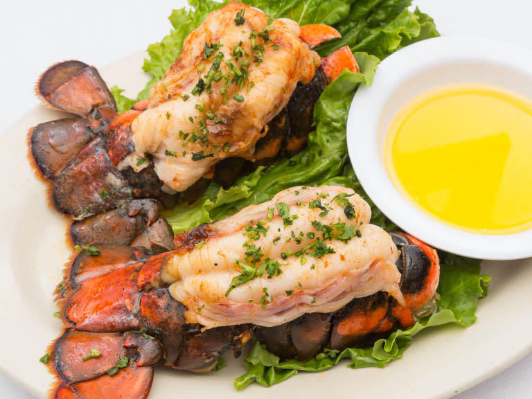 Fileted & grilled lobster with melted butter