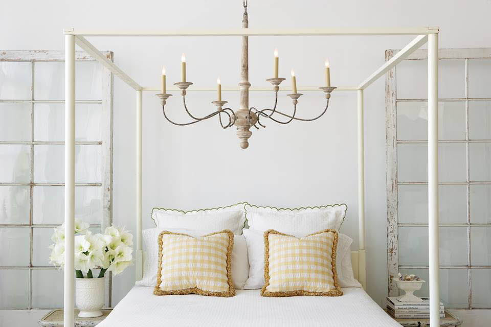 Bedroom Chandelier with candle type lighting