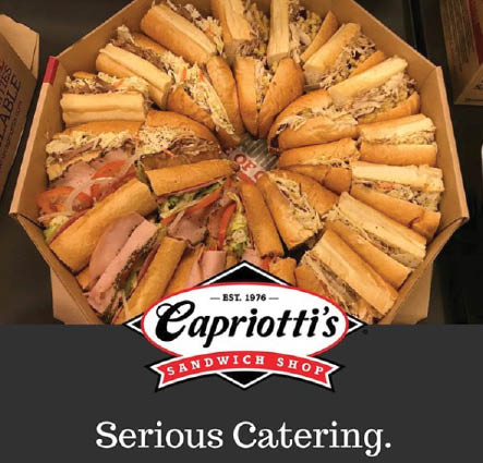 Capriotti's party platters available for your next big game night