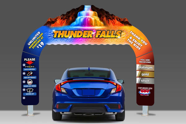 Car Wash USA Thunder Falls Cleaning System