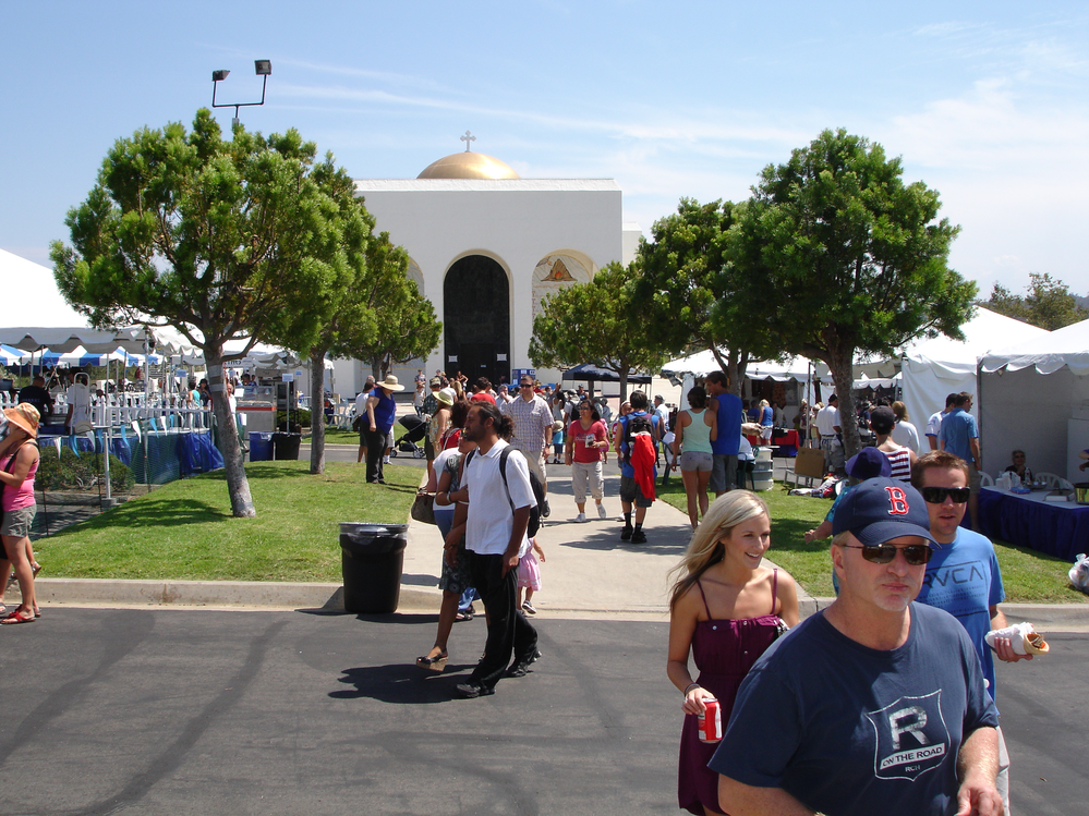 Greek festival in Cardiff By The Sea, CA