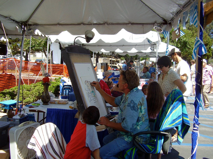 Food vendors, artists, jewelry and crafts at Greek festival