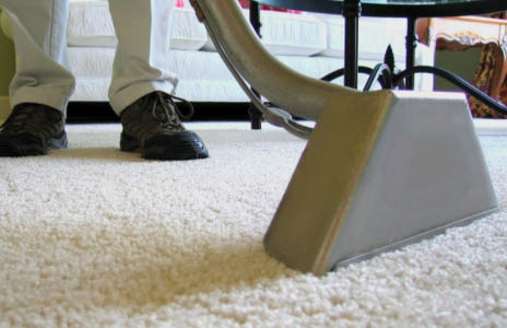 Budget King Carpet Cleaning technician providing residential service in IL