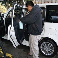 Interior of car wash