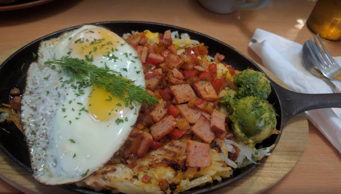 Eggs and hash browns in willowbrook