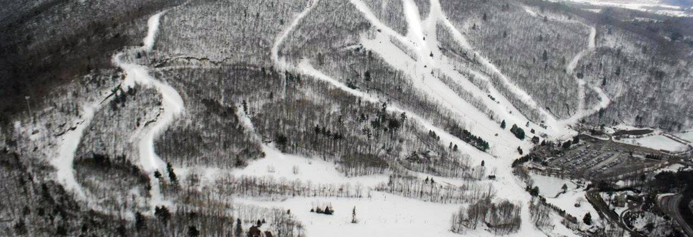 35 ski trails and runs at Catamount in New York banner