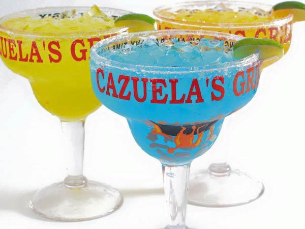 Cazuelas Mexican Cantina margaritas