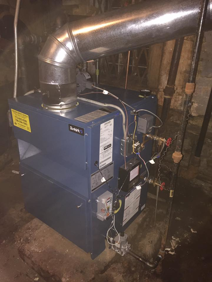 Boiler installed by Chatham Comfort Cooling.