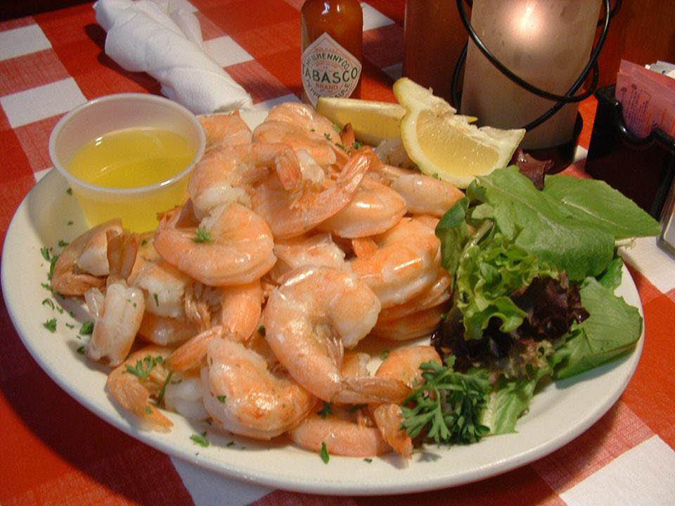 grilled shrimp from Catfish Deweys in Fort Lauderdale