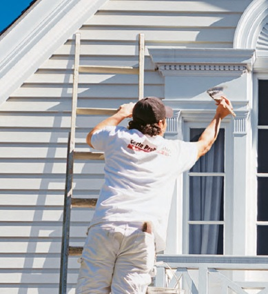Man painting house professional painting save on house paint professional painters