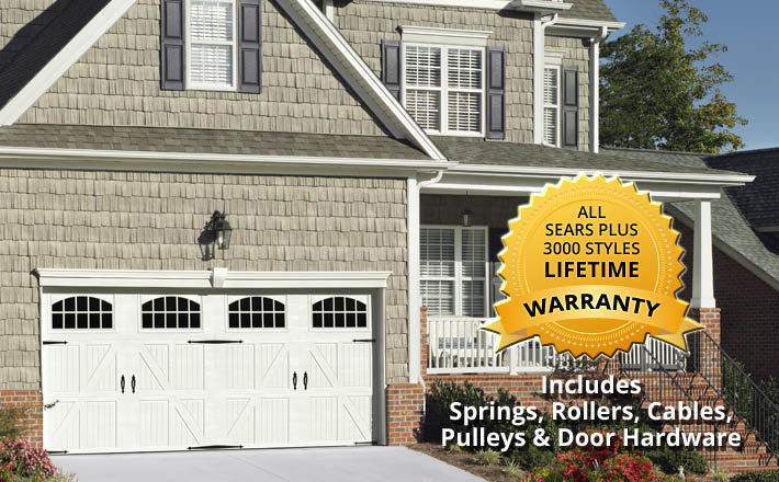 Sears, garage, doors, garage door, broken, motor, chain, lube, Rollers, Cables, Hinges, Replacement, emergency repairs, new garage door, installation, broken springs, rollers, cables, hinges, sensors, weather seals, tune-up
